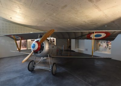 Nieuport 17 and our ash propeller in Thiepval