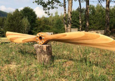 Sopwith Camel 250cm, dvoubarevná (buk/dub), saténový lak, unášeč